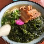 スリーピース - 料理写真:久米島そばアーサー入り