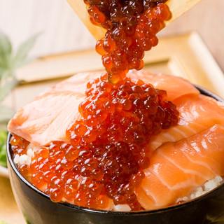 【海鮮こぼれ飯】付きプランが3980円♪