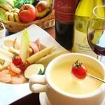 バル スプラウト - チーズフォンデュコース