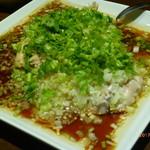 72635807 - 葱油鶏(蒸し鶏のねぎ油ソース)