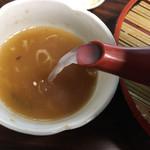 辰巳庵 - 蕎麦湯