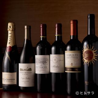 充実したワインをお楽しみ下さい