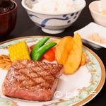 飛騨琢磨 - 飛騨牛本来の旨味を存分に堪能できる、王道のステーキ『特選飛騨牛 ステーキ膳(100g)』