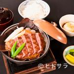 飛騨琢磨 - 特選飛騨牛 朴葉味噌ステーキ膳(100g)