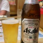ホルモンまつや - ビール中瓶(税抜600円)