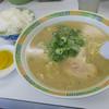 長浜ラーメン力 - 料理写真:「ラーメン定食」(900円)いただきました。ラーメン、ギョーザ、ライスのセット。