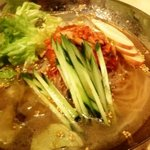 ホルモン青木 - 冷麺。