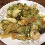 中華家庭料理 雲海 - 五目焼きそば(軟)