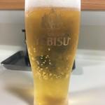 お食事処アケミ - 生ビール エビス(タンブラー)