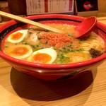 えびそば 一幻 - そのまま塩細麺(780円)+味玉(110円)
