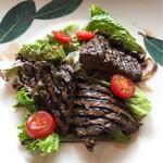 72644861 - 山形県産米沢牛レバーのグリル サラダ仕立て バルサミコ風味+300円