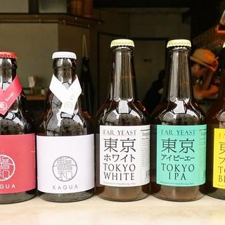 「KAGUA」と「FarYeast」の樽生ビールが7種類常設