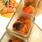 ザ・ガーデン テラソル - 茄子が微妙な火加減で、歯応えで美味しい!