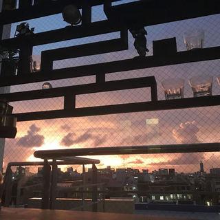 夕日や夜景が見渡せるビル最上階のロケーションで最高の解放感
