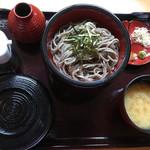 そば処 庵兵衛 - 割子蕎麦とろろ飯定食950円