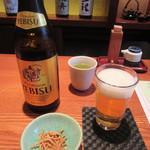 蕎・馳走 岩舟 - 瓶ビール・お通し