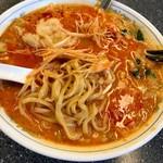 72661406 - 太麺には平打ち麺なんですね^ ^