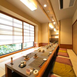 【個室5室完備】接待・記念日に最適な個室・カウンター席