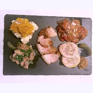 肉前菜5種盛り合わせ