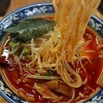 らーめん たつ - モチモチの中細麺