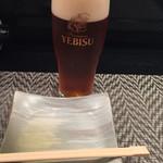 海の幸 さらむむ - 生ビール 琥珀エビス✨