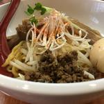 白湯麺屋 - 汁なし豚バラ坦々麺(白胡麻)