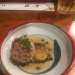二葉鮨 - 鰯つみれ:一個食べちゃいました