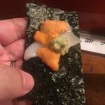 二葉鮨 - 海苔で巻くのが好き