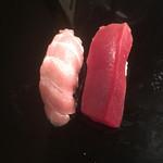 二葉鮨 - インドの蛇腹と赤身