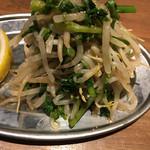大衆ビストロ 煮ジル - もやしとクレソンのナムル380円