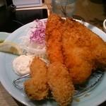 おでん 和食 銀座おぐ羅 - 肉厚な鰺フライ!