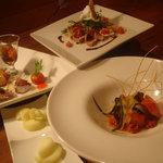 笑ん結 - コース料理では、お客様のご要望に合わせて和洋折衷、数々のお料理をご提供いたします