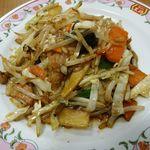 餃子の王将 - あまり旨くない野菜炒め。
