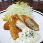 72682829 - 魚フライ定食  1,150円(税込)。   2017.09.05