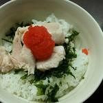 72683892 - ミニ鶏明太子御飯♪鶏はむね肉です。