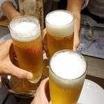 72687483 - 再びビールで乾杯~♪