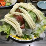 やきとり おばこ - 大量マヨネーズのサラダ