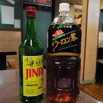 焼肉 松の屋 - Jinroをウーロン割で