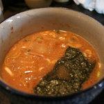 7269857 - 牛ホルモンのつけ麺のつけ汁