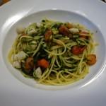 Piccolo ristorante CIBO SANO - 小柱と生青のりのスパゲッティ