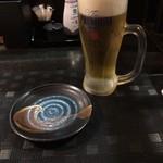 炭火焼鳥あずま - ビールでお疲れ様♪