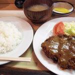 あきら - ミンチカツ定食 700円(2011.3月)