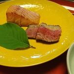 菊乃井 - 焼物…桜鱒と鴨