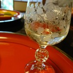 菊乃井 - グラスも綺麗やわあ