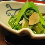 菊乃井 - 木の芽豆腐はまさに和食やなあ…木の芽の鮮烈な香り
