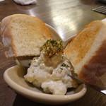 72703631 - ◆ブルーチーズポテトサラダ(480円)・・ブルーチーズの風味は弱いですが、好みのポテサラ。