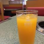 のむらや - セットドリンクは、オレンジジュースです(2017.9.7)