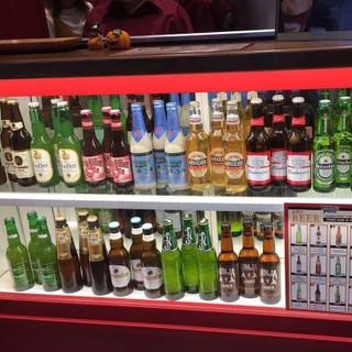 充実のドリンク各種☆珍しい世界のビールもご用意しております♪