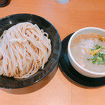 麺堂 稲葉 - 鶏白湯つけめん・大盛+味玉