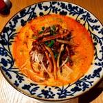 JASMINE 和心漢菜 - 自家製練り胡麻を使用した特製担担麺 青森県契約農家直送の牛蒡を練り込んだ「牛蒡麺」